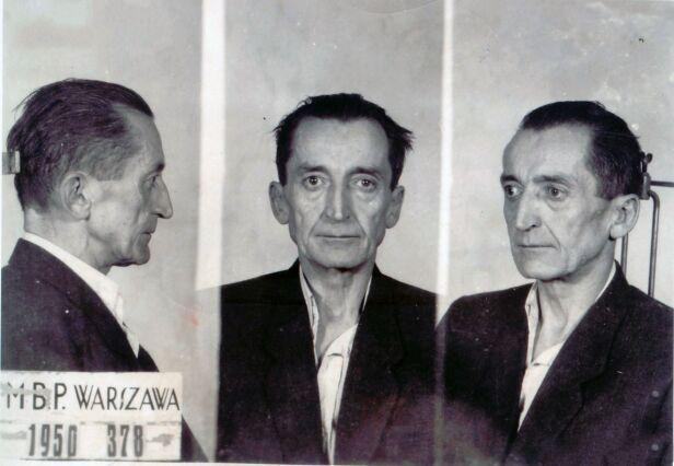 """Emil Fieldorf """"Nil"""" (1950 rok) Wikipedia / Ministerstwo Bezpieczeństwa Publicznego (domena publiczna)"""