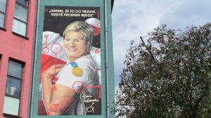 """""""Może być przykładem dla wszystkich"""". Odsłonięto mural poświęcony olimpijce"""