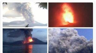 Zdjęcia erupcji wulkanu w Papui-Nowej Gwinei zalewają sieć