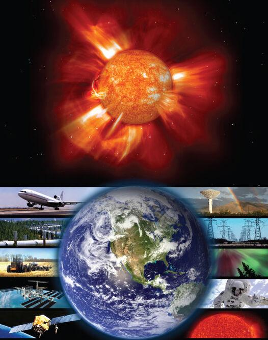 Wpływ burzy słonecznej na Ziemię