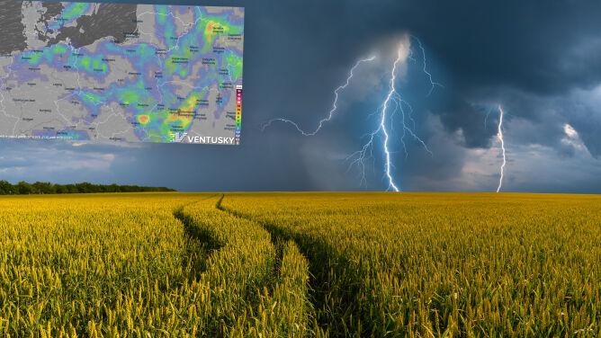 Pogoda na 5 dni: wrócą burze z ulewnym deszczem