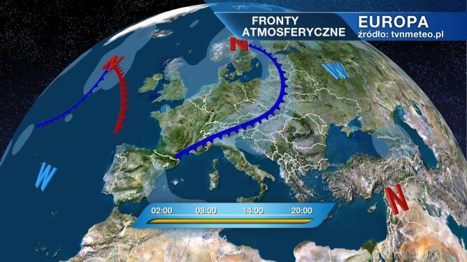 Front burzowy będzie przechodził nad Polską
