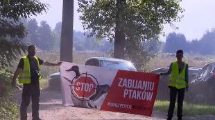 """""""Stop zabijaniu ptaków"""". Ekolodzy zablokowali polowanie"""