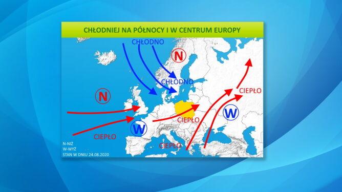 Chłodniej na północy i w centrum Europy