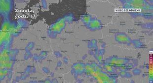 Potencjalne opady w ciągu najbliższych dni (Ventusky.com)