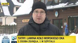 Leszek Kabłak, reporter TVN24, o akcji ratunkowej w Tatrach